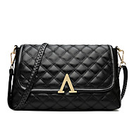 Women PU Casual Event/Party Office & Career Shoulder Bag Black