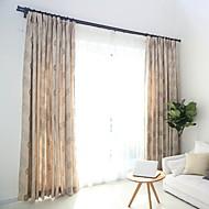 Dois Painéis Tratamento janela Europeu , Flor Quarto Poli/Mistura de Algodão Material Cortinas Blackout Decoração para casa For Janela