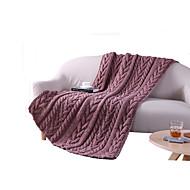 Pletený,Jednolitý Jednolitý Vlna / bavlna přikrývky