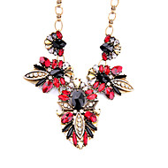 Per donna Collane con ciondolo A forma di fiore Originale Personalizzato Rosso Gioielli Per Casual 1 pezzo