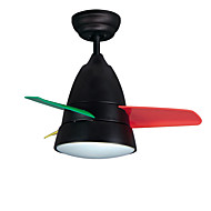 Kattotuuletin ,  Moderni Maalaus Ominaisuus for LED Metalli Makuuhuone Lastenhuone