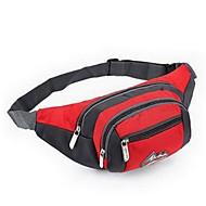 Homem Bolsas Todas as Estações Fibra Sintética Bolsa de Cintura com para Casual Esportes Vermelho Azul Claro Roxo Verde Vermelho Rosa