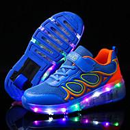 Jungen-Sportschuhe-Outddor Lässig Sportlich-Tüll-Niedriger Absatz-Light Up Schuhe Luminous Schuh-Blau Rosa