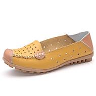 Damen-Loafers & Slip-Ons-Büro Lässig-Leder-Flacher Absatz-Komfort Mokassin-