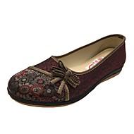 Dámské Nokasíny vyšívané boty Pohodlné Balerínky Novinky Mary Jane Plátěnky lehké Soles Plátno Bavlna Len Personalizované materiály Látka