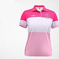 Naisten Lyhythihainen Golf Anatominen tyyli Hengittävä Pehmeä Hikeä siirtävä Mukava Golf Vapaa-ajan urheilu