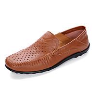 Herren-Loafers & Slip-Ons-Outddor Büro Lässig-Leder-Flacher Absatz-Mokassin-