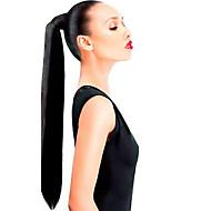 Klips 16inch w wysokiej okrągłym ogoniku dookoła -80gram 100% prawdziwe ludzkie włosy przedłużenie przedłużenia zużycia