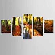 Inpresione Giclee Paisaje Pastoral Modern,Cinco Paneles Lienzos Cualquier Forma lámina Decoración de pared For Decoración hogareña