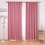 To paneler Window Treatment Moderne , Geometrisk Stue Polyester Materiale Blackout Gardiner Hjem Dekor For Vindu