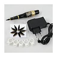 1set tartós smink szemöldök tetoválás toll gép tű hegye tápegység készlet