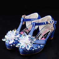 Para Meninas-Sapatos De Casamento-Inovador Menina Flor Shoes Conforto-Rasteiro--Courino Gliter-Casamento Social Casual Festas & Noite