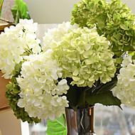 1 Gren Silke Hortensiaer Kunstige blomster
