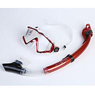 Dykkermasker Snorkler Beskyttende Dykking og snorkling Neopren Glassfiber Silikon Rød Svart