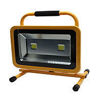 HKV® 1Pcs 100W 8850-9950LM 6000-6500K Cold White Light Portable Chargable Flood Light Emergency Lights LED Floodlight  (AC 85-265V)