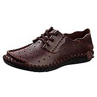 Homme-Extérieure Décontracté Sport--Talon Bas-Confort Semelles Légères trou Chaussures-Sandales-Cuir