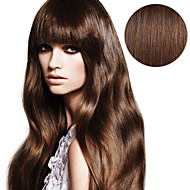 머리 확장 # 4에 20pcs 테이프 중간 갈색 갈색 갈색 40g 16inch 20inch 여자에 대 한 100 % 인간의 머리카락
