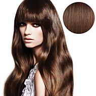 20pcs ταινία σε επεκτάσεις μαλλιών # 4 μέτρια καφέ σοκολάτα καφέ 40g 16inch 20inch 100% ανθρώπινη τρίχα για τις γυναίκες
