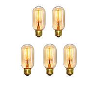 5pcs t45 z vintage edison lâmpadas 40w e27 quente estilo antigo esquilo gaiola filamento retro ac220-240v