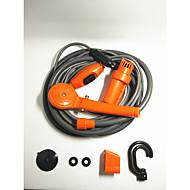Bil bil oransje dusj 12v elektrisk praktisk utendørs dusj enkel vaskemaskin