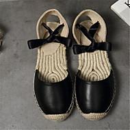 Sandály-Plátno PU-Pohodlné-Dámské--Běžné-Plochá podrážka