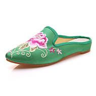 Oxford-kengät-Tasapohja-Naiset-Mikrokuitu--Ulkoilu Toimisto Puku Rento Urheilu-Comfort Uutuus Slingback Brodeerattu kengät