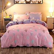 Dynetrekk sett 1pc dyne deksel 1pc sengetøy sett 2 stk putevar sengetøy sett søte oransje
