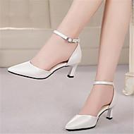 Sandály-PU-S páskem-Dámské-Bílá Černá Růžová-Běžné-Kačenka