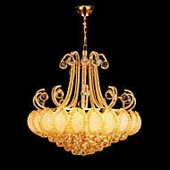 Lustres ,  Vintage Moderno/Contemporâneo Tradicional/Clássico Galvanizar Característica for Cristal LED MetalSala de Estar Quarto Sala de
