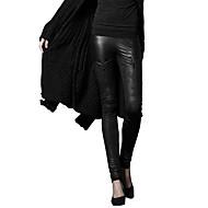 Damen Sexy Street Schick Punk & Gothic Mittlere Hüfthöhe strenchy Chinos Schlank Skinny Hose,Patchwork einfarbig