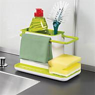 1pcs καταπληκτικό 3 σε 1 γάντια αποθήκευσης συντρίμματα rack dishclout αποθήκευση ράφι κουζίνα σκεύη στέκεται