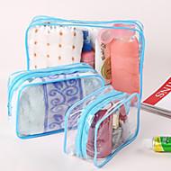 1pc Toilettas Waterdicht Stofbestendig Vouwbaar voor Unisex Opbergproducten voor op reis Toiletartikelen PU-leer PVC-Geel Fuchsia Blauw