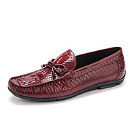 Men's Crocodile Genuine Loafers & Slip-Ons Spring Summer Fall Winter Moccasin Leather Wedding Office & Career Party & Evening Casual Flat Heel Buckle
