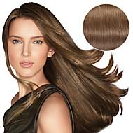 9pcs / set 디럭스 120g # 8 애쉬 갈색 클립 머리 확장 16inch 20inch 100 % 스트레이트 인간의 머리카락