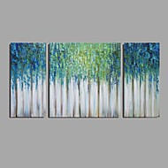 Hånd-malede Abstrakt Horisontal,Moderne Klassisk Tre Paneler Kanvas Hang-Painted Oliemaleri For Hjem Dekoration