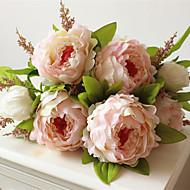 1 Stk / Sett 1 Gren Plastikk Peoner Bordblomst Kunstige blomster