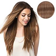 7 szt / set # 6 kasztanowy klip w przedłużanie włosów 14inch 18inch 100% ludzkich włosów