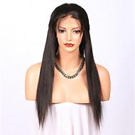 Premierwigs 180% Dichte natürliches gerades menschliches Haar glueless volle Spitzeperücke 100% weiches brasilianisches menschliches