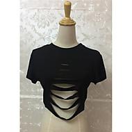 Feminino Camiseta Tamanhos Grandes Sensual Todas as Estações,Estampa Animal Poliéster Decote em V Profundo Sem Manga Leve Transparência