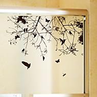 Window Film Window Decals Style The Bird on The Branch Dull Polish PVC Window Film - (60 x 58)cm