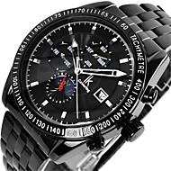 Heren Modieus horloge mechanische horloges Automatisch opwindmechanisme Kalender Waterbestendig Legering Band Zwart Zilver