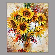 Håndmalte Blomstret/Botanisk Moderne / Nutidig Et Panel Lerret Hang malte oljemaleri For Hjem Dekor