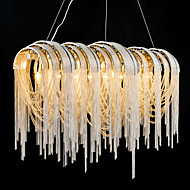 Stream Pendant Light Modern Style Electroplated Feature Designers Metal Kitchen Dinning Room 6 Bulbs