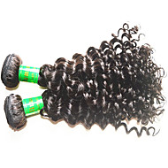 8A Indian Deep Wave Vigin Hair 3Bundles 300g Lot Unprocessed Indian Human Hair Extensions Weaves Natural Black Color