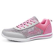 Feminino Tênis Conforto Solados com Luzes Tule Verão Casual Corrida Conforto Solados com Luzes Cadarço RasteiroPreto Roxo Azul Rosa e