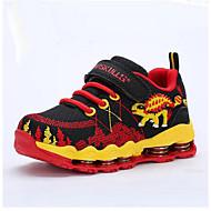 לבנים נעלי ספורט נוחות רשת נושמת סתיו קזו'אל נוחות הדפס חיות עקב שטוח שחור כחול כהה שטוח