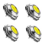2W G4 LED bodovky 1 COB 180 lm Teplá bílá / Chladná bílá / Přirozená bílá Stmívací DC 12 V 4 ks