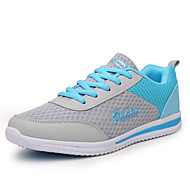 Women's Athletic Shoes Comfort Light Soles Tulle Spring Summer Fall Outdoor Athletic Casual Running Lace-up Wedge HeelBlue Gray Black