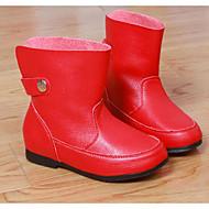 女の子 フラット 赤ちゃん用靴 レザー 春 秋 日常 ウォーキング 赤ちゃん用靴 面ファスナー ローヒール ホワイト ブラック レッド フラット