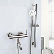 עכשווי מקלחת ואמבטיה נפוץ שפורפרת יד כלולה with  שסתום קרמי שתי ידיות חור אחד for  מוברש , ברז לאמבטיה